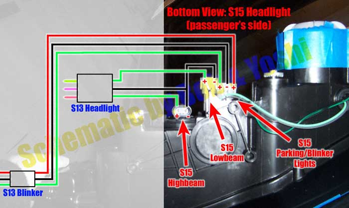 S13 S15_Wiring_Schematic700w s13 to s15 conversion with no conversion fenders 2005 nissan 350z headlight wiring diagram at love-stories.co